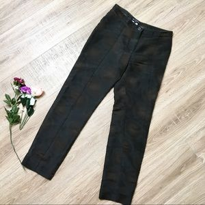 ETRO Milano Circle Textured Silk Crop Skinny Pants